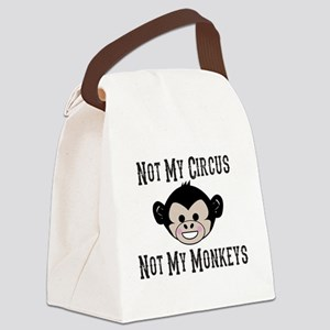Not My Circus, Not My Monkeys (Cu Canvas Lunch Bag