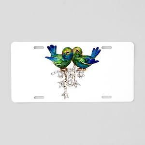 Lovebirds Love Birds Aluminum License Plate