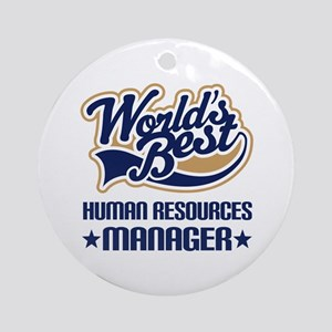 Human resources manager Ornament (Round)