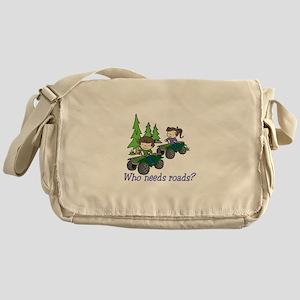 Who Needs Roads? Messenger Bag