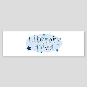 Literary_DivaBlue Bumper Sticker