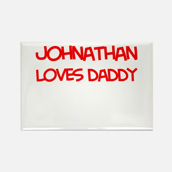 Johnathan Loves Daddy Rectangle Magnet