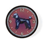 Black Poodle Wall Clock