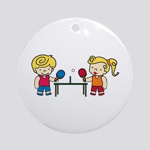 Ping Pong Kids Ornament (Round)