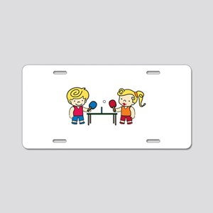 Ping Pong Kids Aluminum License Plate