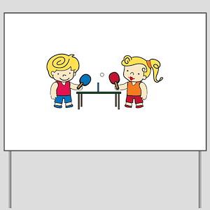 Ping Pong Kids Yard Sign