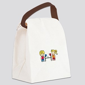 Ping Pong Kids Canvas Lunch Bag