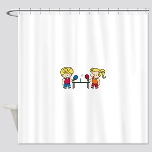Ping Pong Kids Shower Curtain