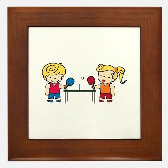 Ping Pong Kids Framed Tile