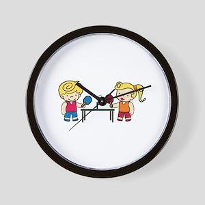 Ping Pong Kids Wall Clock