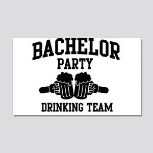 Bachelor Party Drinking Team Wall Decal