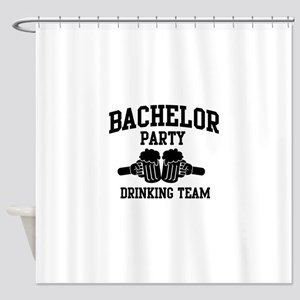 Bachelor Party Drinking Team Shower Curtain