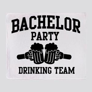 Bachelor Party Drinking Team Throw Blanket