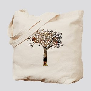 White Spiders In Tree Stump 2 Tote Bag