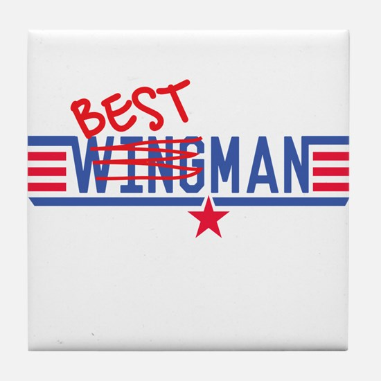 Best Man Tile Coaster