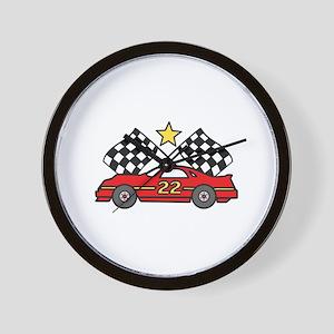 Checkered Flags Car Wall Clock