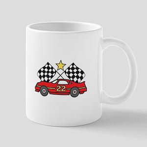 Checkered Flags Car Mugs