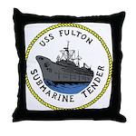 USS Fulton (AS 11) Throw Pillow