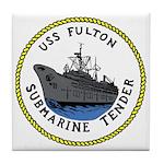USS Fulton (AS 11) Tile Coaster