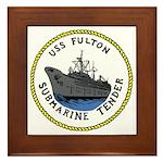 USS Fulton (AS 11) Framed Tile