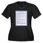 Covenant on Women's Plus Size V-Neck Dark T-Shirt