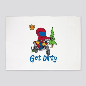 Get Dirty 5'x7'Area Rug