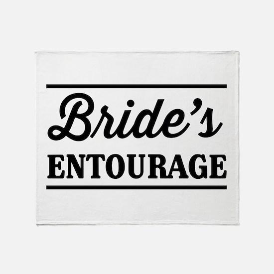 Brides Entourage Throw Blanket