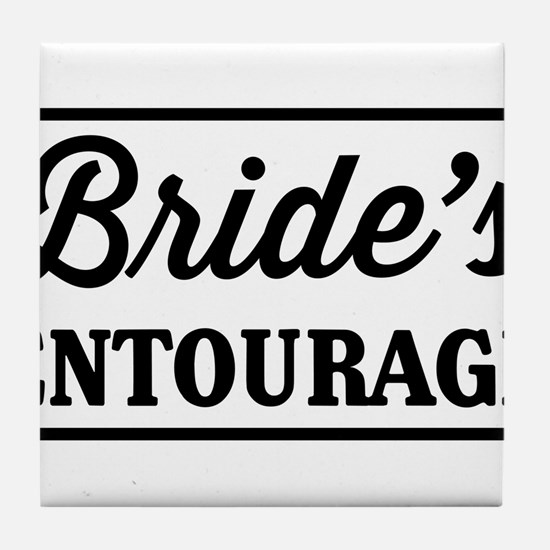 Brides Entourage Tile Coaster