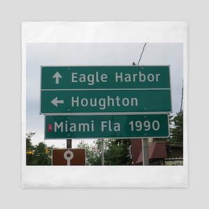 Miami, Fl sign Queen Duvet