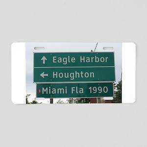 Miami, Fl sign Aluminum License Plate