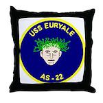 USS Euryale (AS 22) Throw Pillow