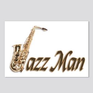 Jazz man sax saxophone Postcards (Package of 8)