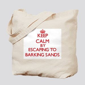 Keep calm by escaping to Barking Sands Hawaii Tote