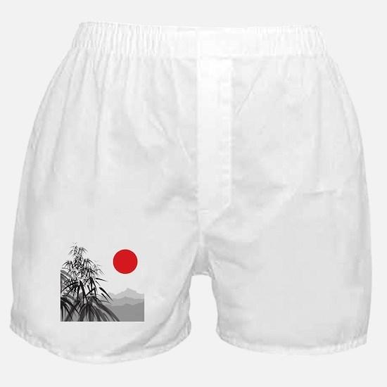 Asian Landscape Boxer Shorts
