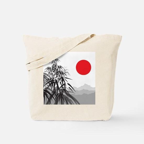Asian Landscape Tote Bag