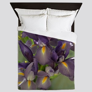Ballet Purple Iris Flower Photo Queen Duvet