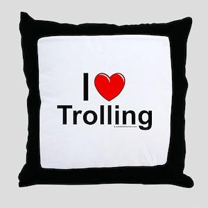 Trolling Throw Pillow