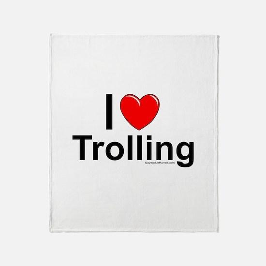 Trolling Throw Blanket