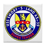 USS Emory S. Land (AS 39) Tile Coaster