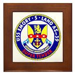 USS Emory S. Land (AS 39) Framed Tile
