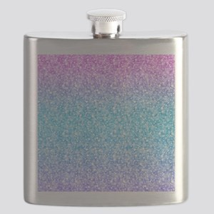Colorful Retro Glitter And Sparkles Flask