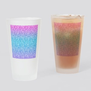 Colorful Retro Glitter And Sparkles Drinking Glass