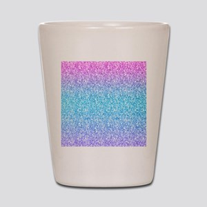 Colorful Retro Glitter And Sparkles Shot Glass