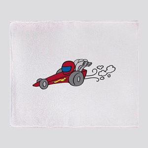 Dragster Throw Blanket