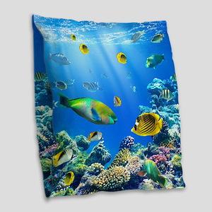 Sea Life Burlap Throw Pillow