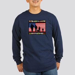 Thank You Veterans Long Sleeve Dark T-Shirt
