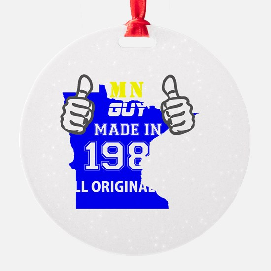 Made in minnesota Ornament