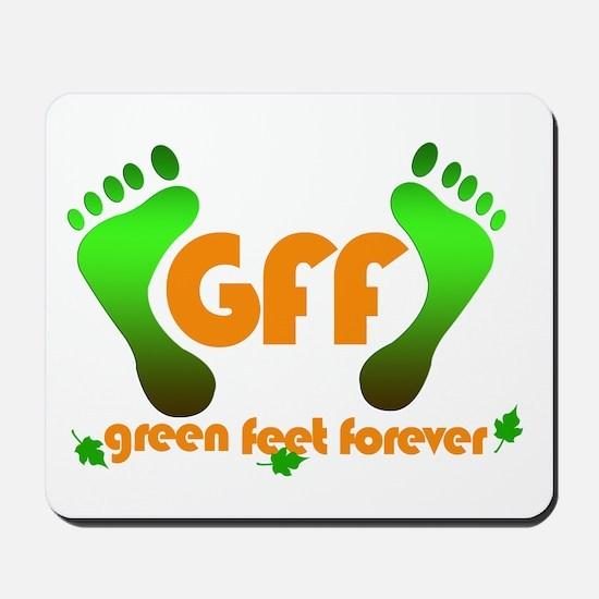 Green feet Mousepad