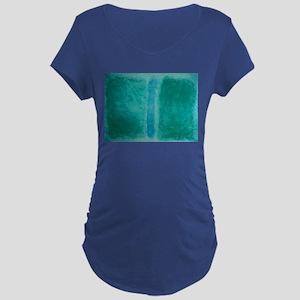 ROTHKO IN TEAL Maternity Dark T-Shirt