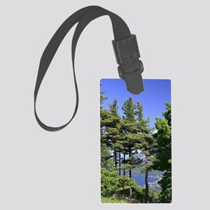 On Top Of Lake George by Cynthia Large Luggage Tag